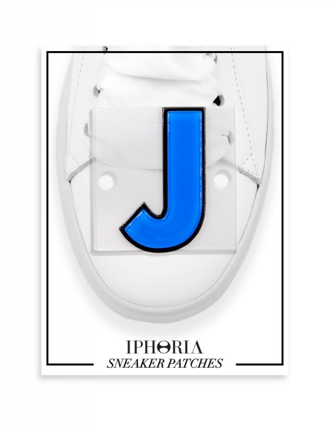 Acryl Sneaker Patches - Letter  J  Light Blue 1