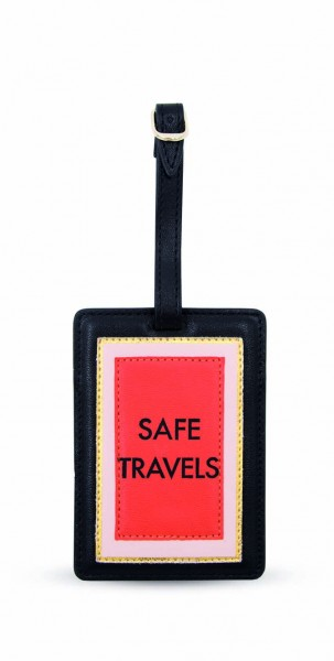 Luggage Tag -  Safe Travels Black 1