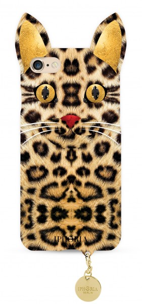 Wild Case Leo Cat with Golden Pendant for iPhone 7/ 8 1