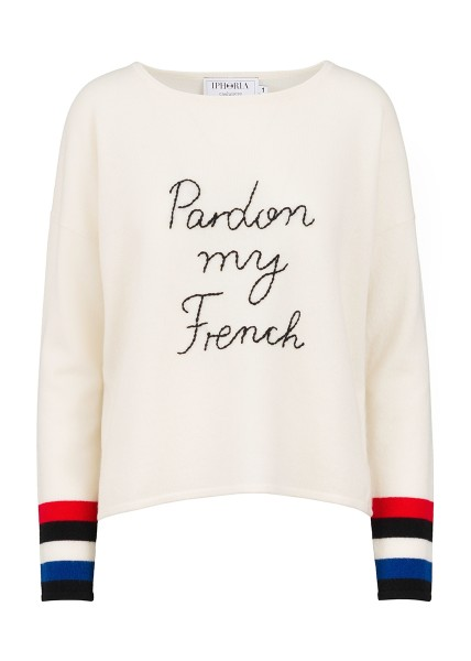 Cashmere Boxy Sweater - White Pardon My French Size 1 1