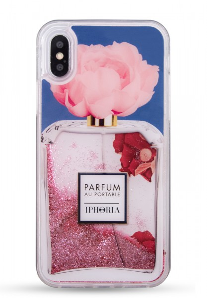 Liquid Case for Apple iPhone X/XS - Perfume Flower Blue  1