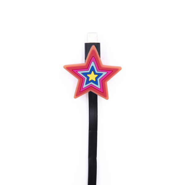 Charging Cable extra long for Apple iPhone - Colorful Star 1