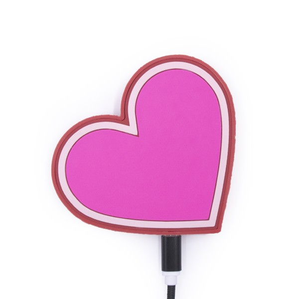 QI Wireless Charger - Pink Heart 1