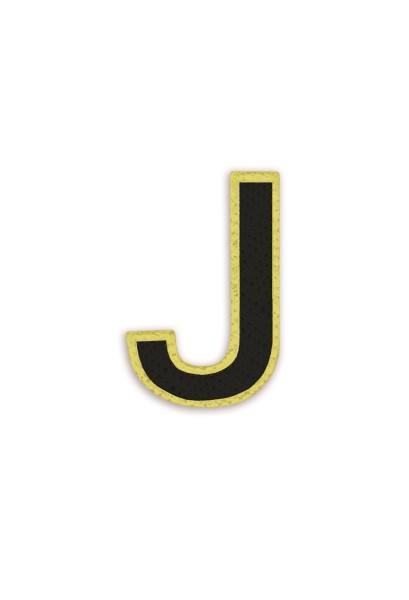 Ledersticker Letter J Black 1
