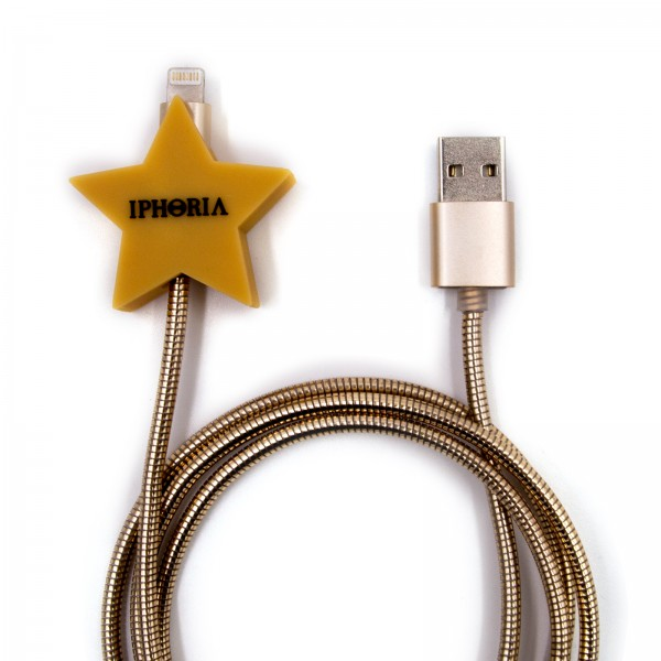 Charging Cable for Apple iPhone - Metallic Star Gold 1