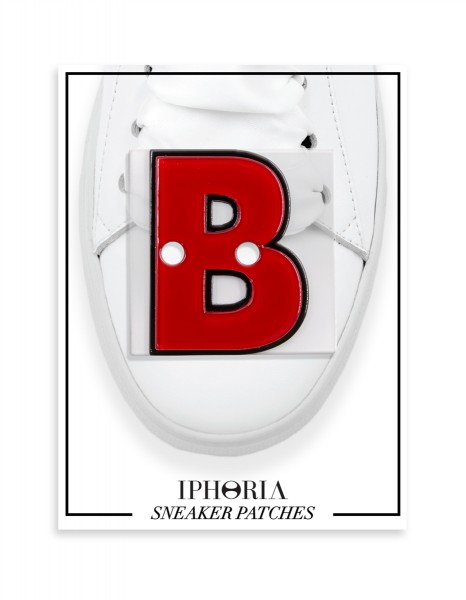 Acryl Sneaker Patches - Letter  B  Red 1