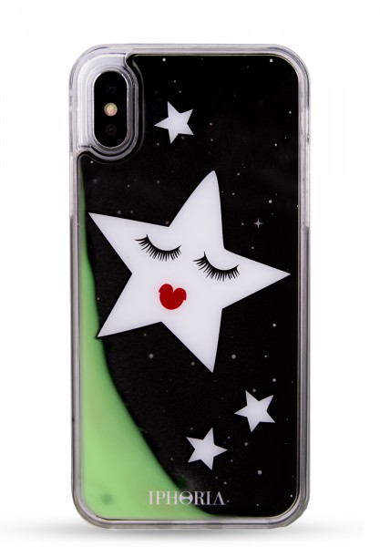 Liquid Case for Apple iPhone X/XS - Stars Black Gold 1
