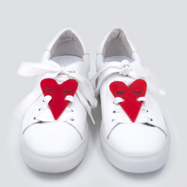 Sneaker Patch Set Red Hearts 1
