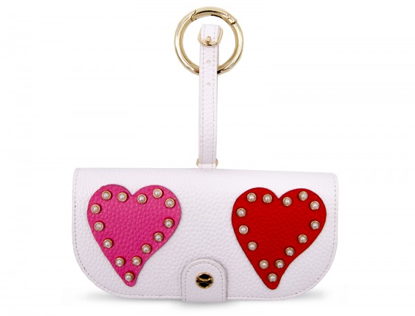 Glasses Case with Bag Holder - Hearts With Pearl 1
