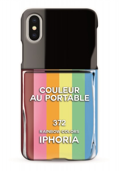 Case for Apple iPhone X/XS - Nailpolish Rainbow 1