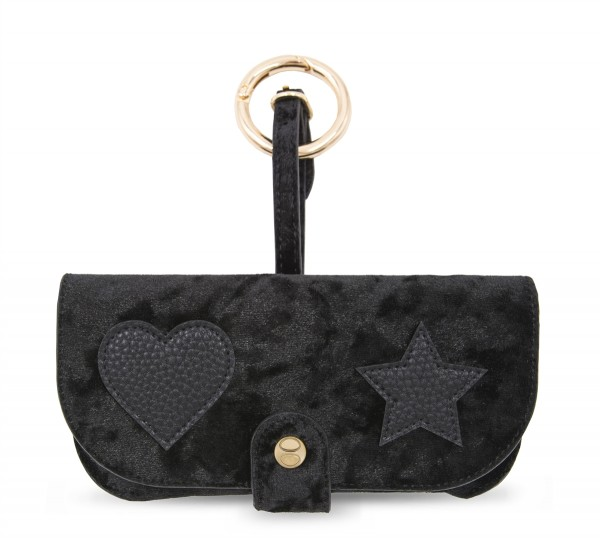 Sunglasses Case with Bag Holder - Black Velvet 1
