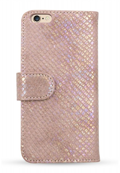 Snake Pearl Beige Book Case für Apple iPhone 6/ 6S 1