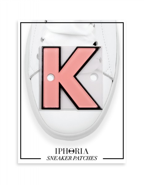 Acryl Sneaker Patches - Letter  K  Rose 1