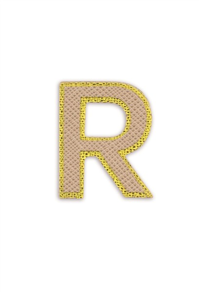 Ledersticker Letter R Rose Gold 1