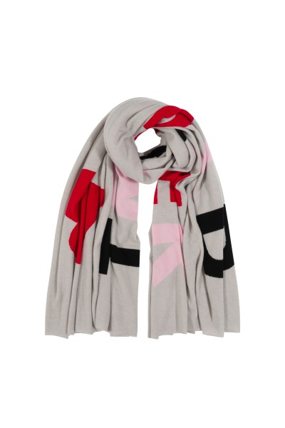 100% Cashmere Oversized Scarf - Grey World Traveller 1