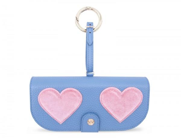Artikelbild 1 des Artikels Glasses Case with Bag Holder - Baby Blue with Pink