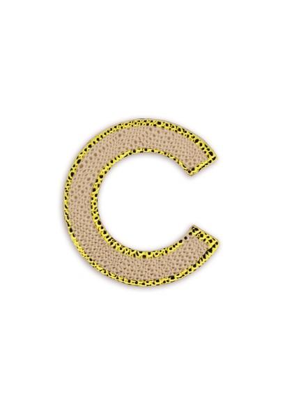 Ledersticker Letter C Rose Gold 1