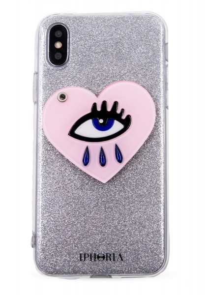 Case with Mirror for Apple iPhone X - Heart Eye 1