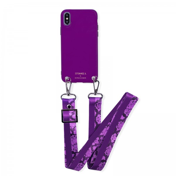 Case for Apple iPhone X/XS with Purple Strap - Sonia Lyson Purple  1