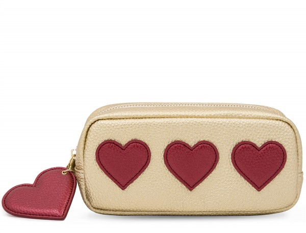Mini Power Purse incl. Powerbank (2600 mAh) - Hearts Red Gold 1