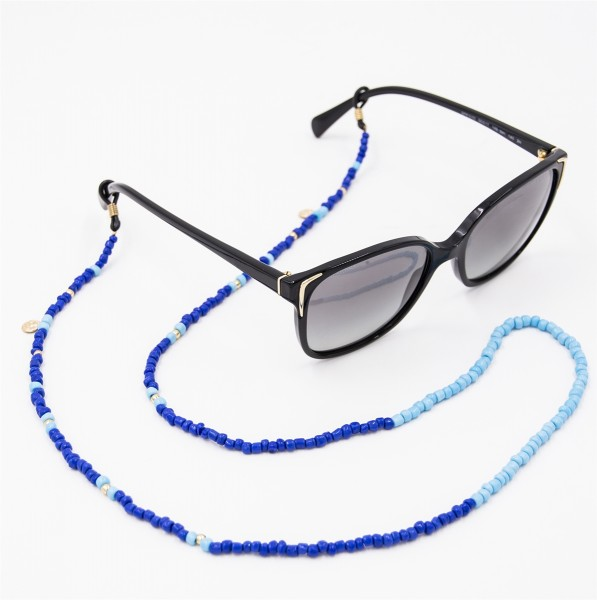 Sunglasses Strap Pearls - Dark and Light Blue 1