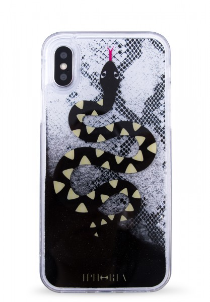 Liquid Case for Apple iPhone X/XS - Black Snake  1