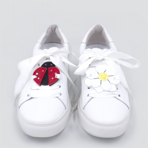 Sneaker Patch Set Flower & Ladybug  1