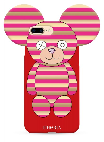 Teddy Pink Stripes for iPhone 7+/8+ 1