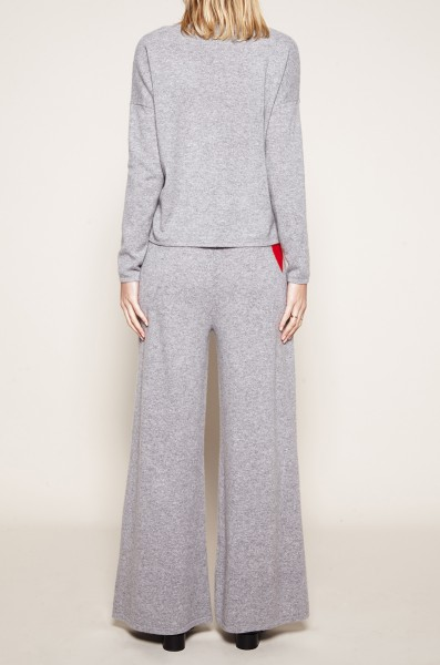 Palazzo Pants - Grey with Heart - Size 2 1
