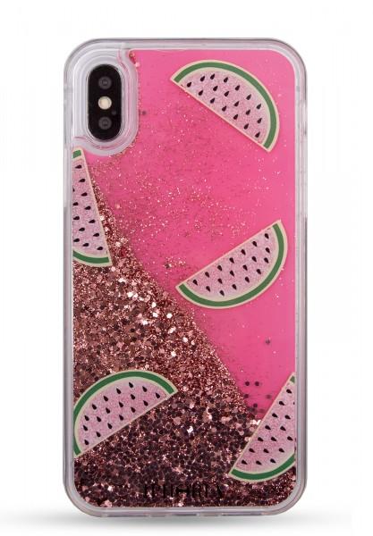 Liquid Case for Apple iPhone 7+/8+ - Melon Glitter Gold 1