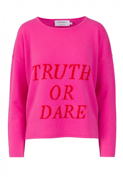 100% Cashmere Boxy Sweater - Pink Truth Or Dare - Size 0 1