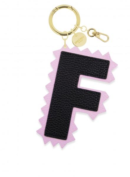 XL Bag Charm Black Letter F 1