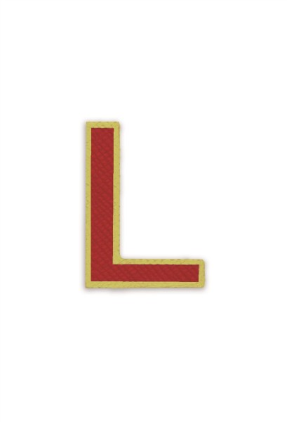 Ledersticker Letter L Red 1