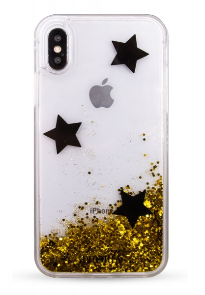 Liquid Case for Apple iPhone X/XS - Black Stars 1