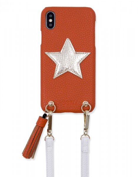 Necklace Strap Case for iPhone X/Xs - Red Star 1