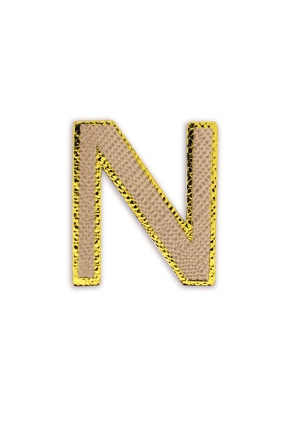 Ledersticker Letter N Rose Gold 1