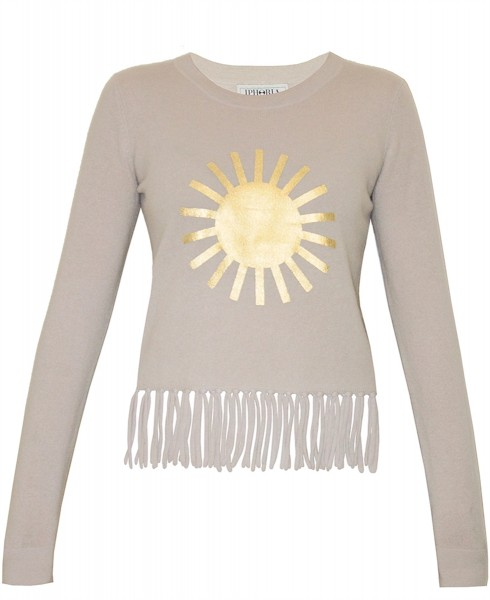 Cashmere Fitted Jumper You`re my Sunshine. Größe 2 1