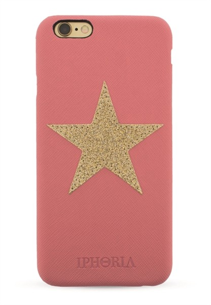 Gold Star Patch Case Pink für Apple iPhone 6/ 6S 1