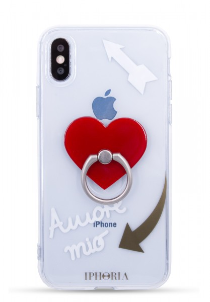 Case for Apple iPhone X/Xs - Ring Transparent Amore Mio - 1