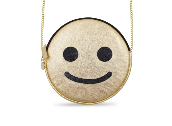 Round Micro Shoulder Bag Smiley gold 1