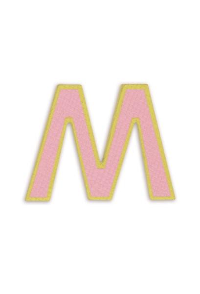 Ledersticker Letter M Pink 1