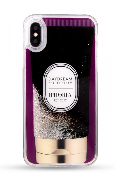 Liquid Case for Apple iPhone X/XS - Handcream Purple Stars 1