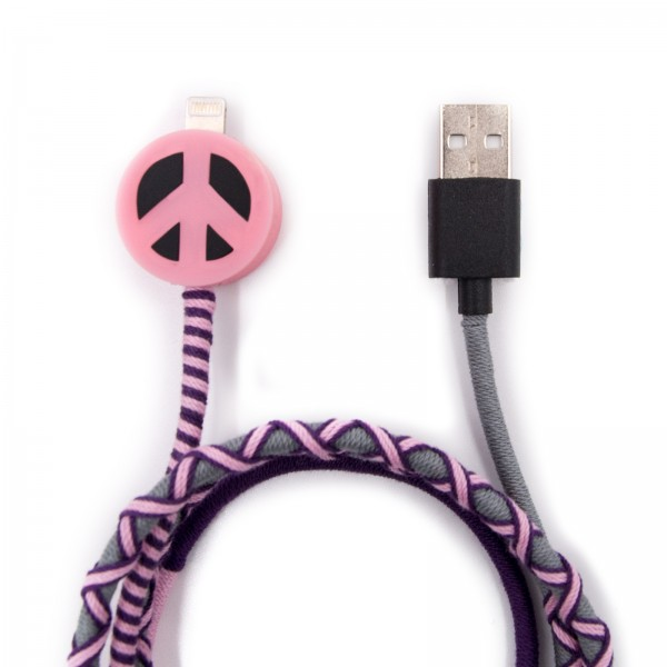 Charging Cable for Apple iPhone - Peace Multicolor 1