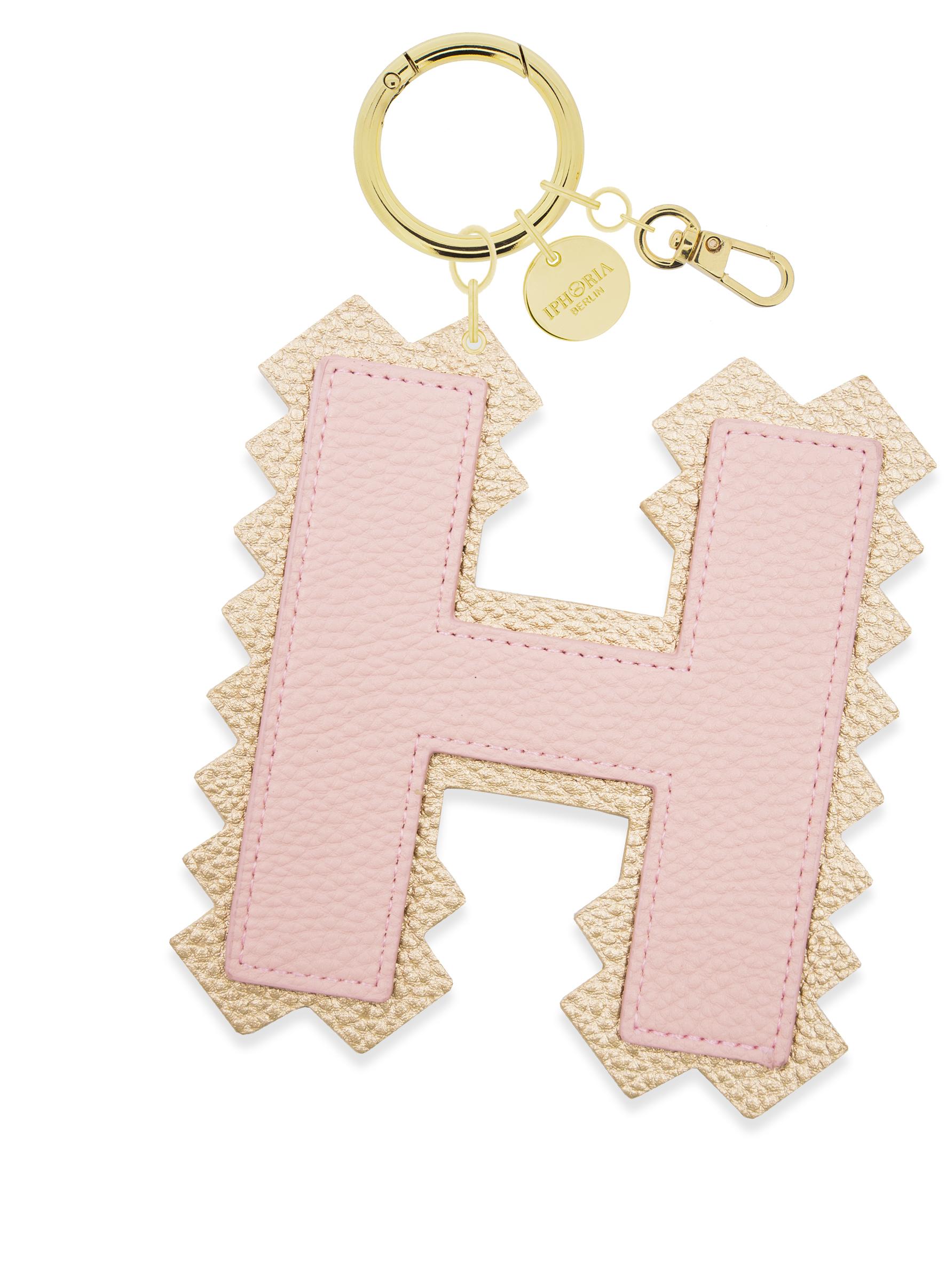 H Letter Images.Xl Bag Charm Rose Letter H