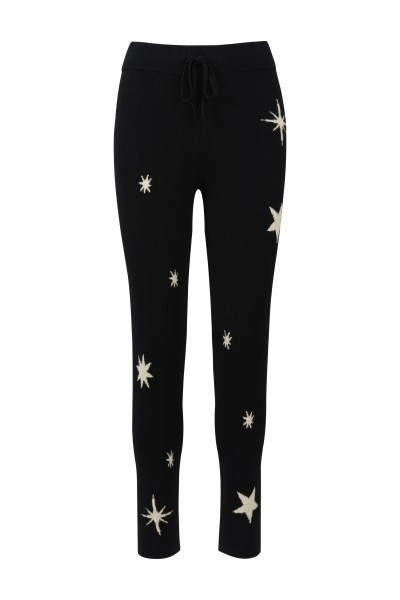 100% Skinny Knit Pants - Zodiac Black - Size 0 1