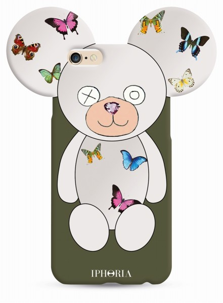 Butterfly Teddy olive für Apple iPhone 6/ 6S 1