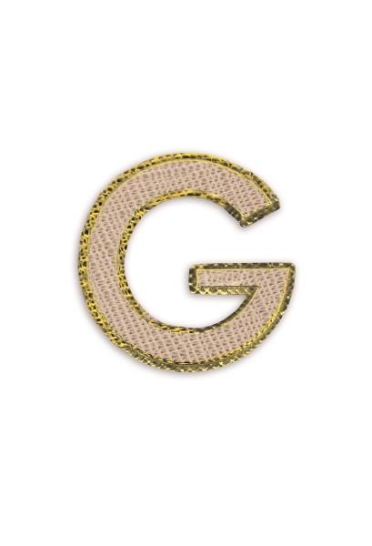 Ledersticker Letter G Rose Gold 1
