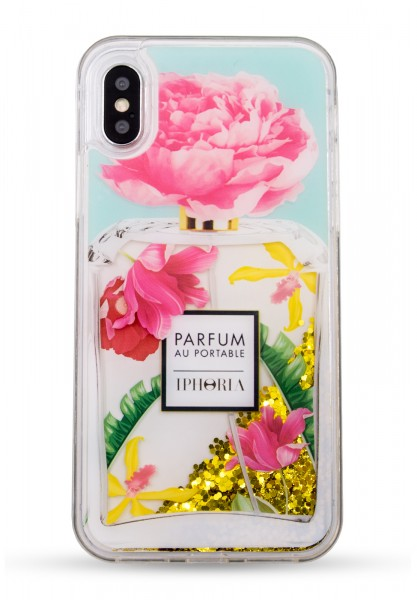 Liquid Case for Apple iPhone X/XS - Perfume Rose Ornaments 1