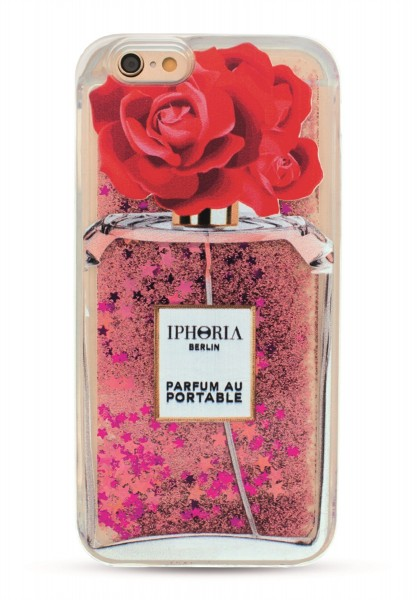 Liquid Case Parfum au Portable Shiny Red Rose für Apple iPhone 6/ 6S 1
