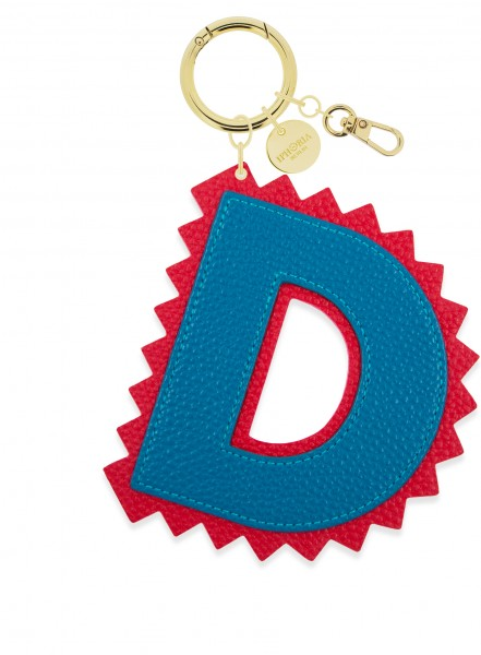 XL Bag Charm Blue Letter D 1